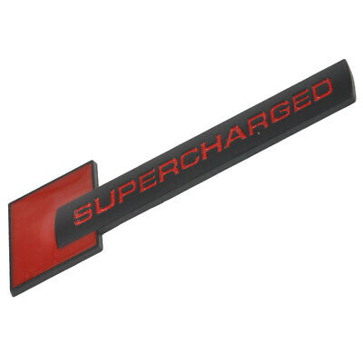 1xBadge Emblem Métal Supercharged Car Decal Sticker Audi Rouge + Noir