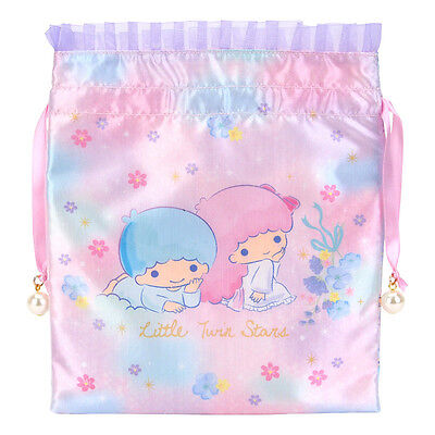 Sanrio Little Twin Stars Satin Drawstring Bag Registered Shipping