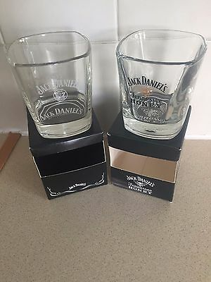 Brand New Pair Of Jack Daniel's Tennessee Honey & Old No 7  Brand Glasses