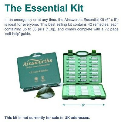 """Ainsworths """"The Essential Kit"""" - 42 Common Remedies & 'Self-Help' Guide"""