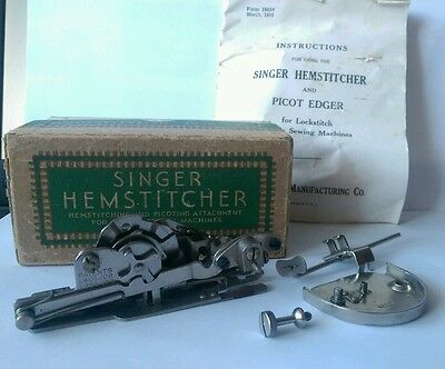 vintage  singer hemstitcher and picoting attachment
