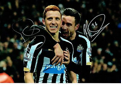 Newcastle United JACK COLBACK & DUMMETT signed autograph 12 x 8 Photo & COA