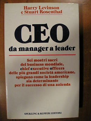 Harry Levinson Stuart Rosenthal CEO da manager a leader Sperling 1° 1987