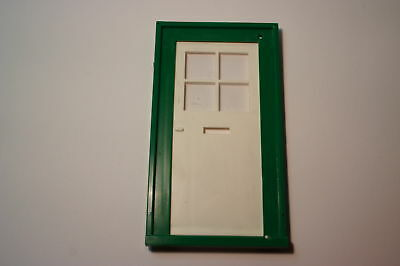 Dolls House Georgian Door White/green  Plastic 1/16 Scale