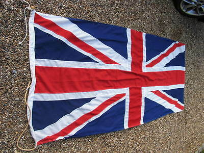 """GOOD QUALITY LARGE STITCHED PANELS UNION JACK (approx 88"""" x 41"""")"""