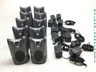 Lot of 10 Plantronics CS50 Wireless System, Bases & Adapters, Tested