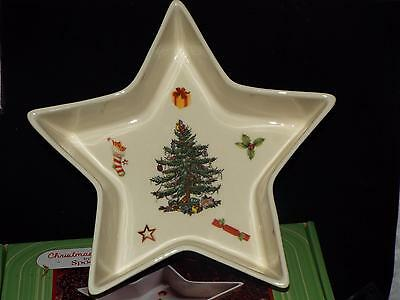 Spode Christmas Tree Jubilee 21cm STAR TRAY / DISH Snacks Nuts Ect. NEW & BOXED