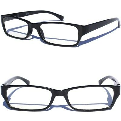 BLACK FRAME CLEAR LENS GLASSES Classic Retro Vintage Style HIPSTER POLITE Small