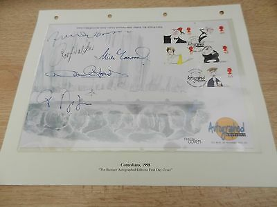Rare Autograph First Day Cover The Comedians 1998 Westminster Collection