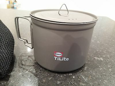 Primus TiLite 0.9L Titanium cooking pot / kettle. Ultra light. New & Unused