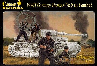 Caesar Miniatures 085 - WWII German Panzer Unit in Combat - 1:72