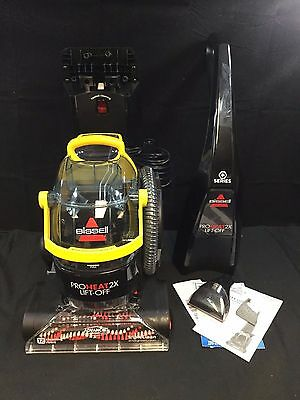 Bissell ProHeat 2X Lift Off 2-in-1 Upright Carpet Cleaner - Black/Yellow *READ*