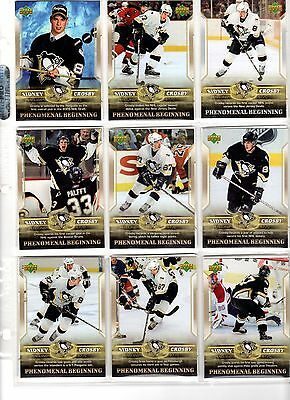 NHL Trading Cards--Komplettset UD--Sidney Crosby--Phenomenal Beginning--18 Cards