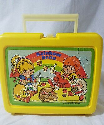 Rainbow Brite Thermos Brand Lunchbox 1983 Yellow Plastic No Thermos