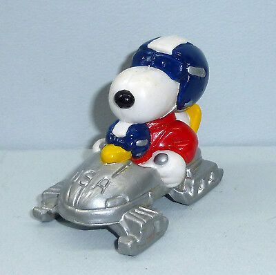 Snoopy & Woodstock Olympic Bobsled USA PVC 1984 Peanuts NM Unused Schleich