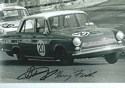 "Firth/Jane Hand Signed 8x12"" 1964 Bathurst Winner Ford Cortina GT Action Photo."