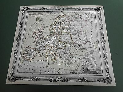100% Original Europe  Map By M Brion  C1798 Hand Coloured