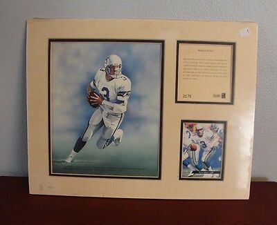 RICK MIRER Seattle Seahawks ORIGINAL ART LITHOGRAPH PRINT Numbered NEW Rare