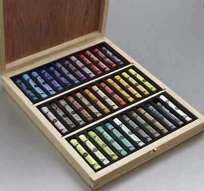 36 Sennelier Soft Pastel Assorted colours in Wooden Box Set