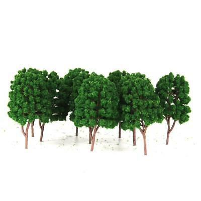10 Plastic Tree Model for Railway Diorama Wargame Scenery Landscape HO Scale