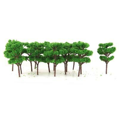 25Pcs Trees Model Z Scale for Railway Diorama War Game Scenery Layout 1:200