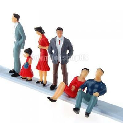 6pcs G O 1:30 Scale Diorama Train Railway Layout Painted Passengers People