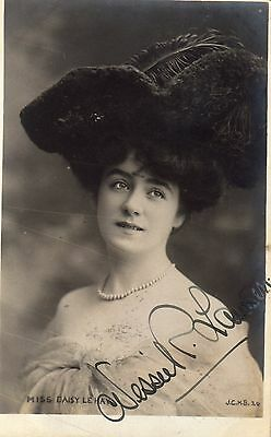 Vintage Postcard.actress Miss Daisy Le Hay Edwardian Glamour Hat Fashion Rp