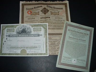 Original 3 Different Bonds /shares As Seen In Pictures (H2
