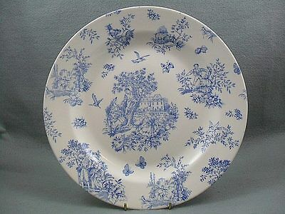 Queen's Toile Blue de  Jardin Dinner Plate