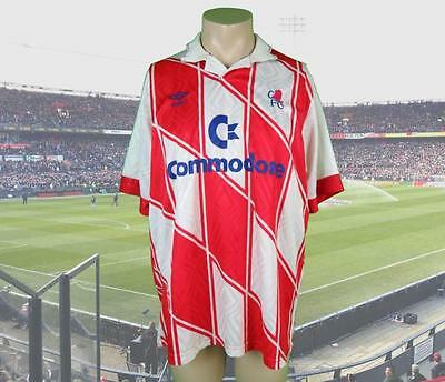 "Vintage Chelsea 1990-92 away shirt size XL (pit to pit 25"") Umbro Rare Commodore"