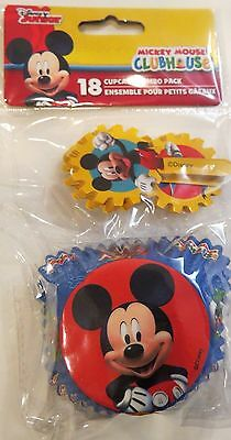 MICKEY MOUSE CLUBHOUSE Cupcake Liners & Cupcake Decorations 18 Count New