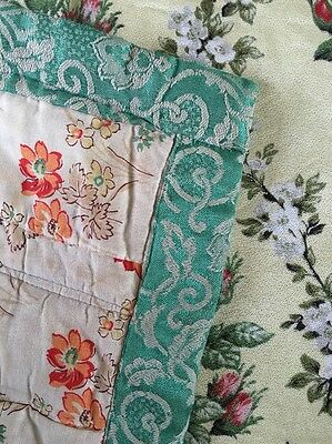 Vintage Handmade Patchwork Quilt abstract Floral Fabric 20's 30's ?
