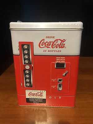 "Coca Cola Tin 1997 "" 1950s Vending Machine Series 1"" New Sealed with extra prize"