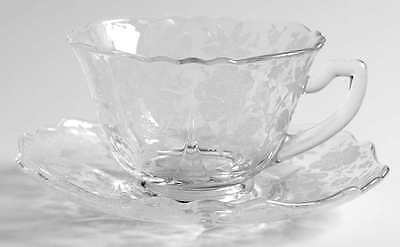 Cambridge WILDFLOWER CLEAR Cup & Saucer Set 7164488