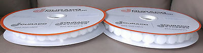 """900 pairs Hook and Loop Tape Self Adhesive  White Stick-on  coins dots 3/4"""" 7/8"""""""
