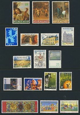 Belgium Stamp Collection 17 Different Mnh Stamps #1390//1475 Cv$25.60 -- Cb18