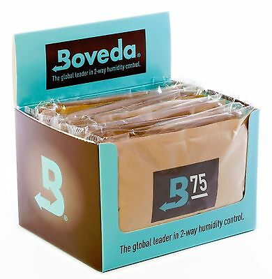 12 Packs Boveda 75% humipacks Factory Fresh Canada & International Buyers only!