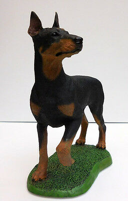 Living Stone Doberman, On Base,  Item 51582
