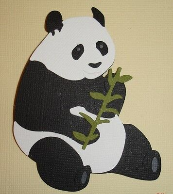 Large Panda Embellishments Die Cuts Scrapbooking Fully Assembled Zoo Animals