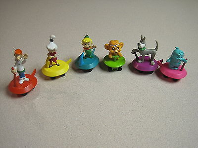 Wendys 1990 Jetson's The Movie Space Gliders - Complete Set - Loose