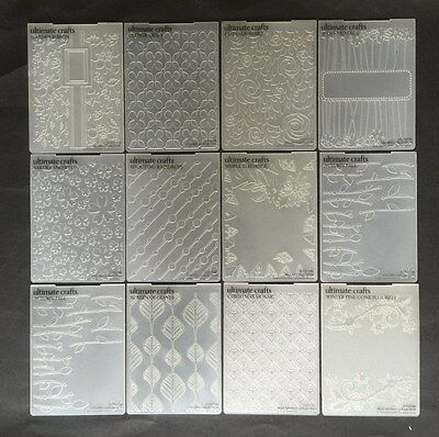 Couture Creations Crafts Embossing Folders A2 for most die cutting machines