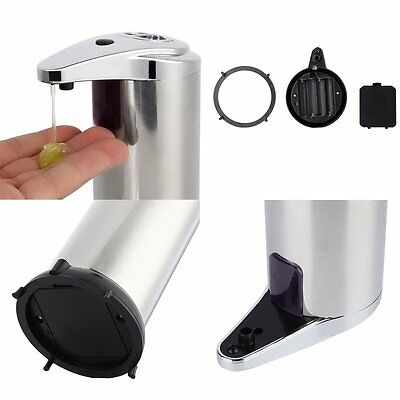 Automatic Sensor Stainless Steel Soap & Sanitizer Dispenser Touch-free Bathroom