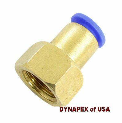 "8mm or 5/16"" OD to 1/4"" NPT Female Straight Push In Connect Tube Fitting N-3i"