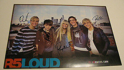 ROSS LYNCH & R5 2012 Group Signed Concert Poster - Autographed by Entire Band