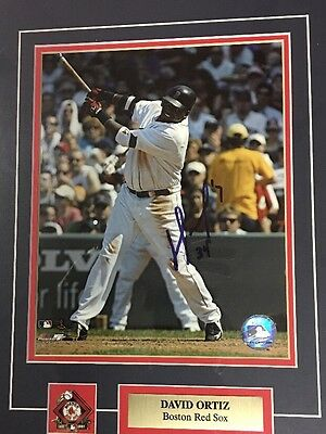 David Ortiz Signed Framed Picture Genuine Autographed