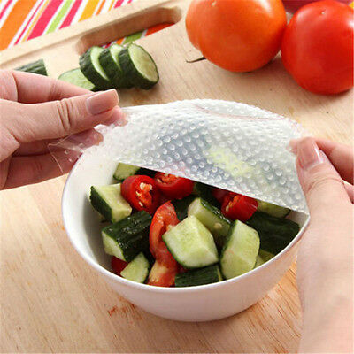 Reusable Silicone Wrap Seal Cover Stretch Cling Film Kitchen Keep Food Fresh  tb