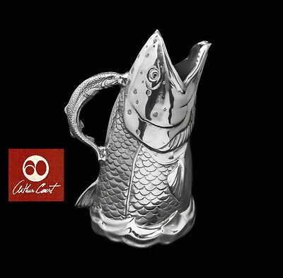 New In Box Authentic Arthur Court Coastal Salmon Fish Pitcher Free Shipping