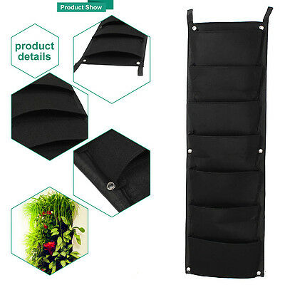 Durable 7-Pocket Indoor Outdoor Hanging Vertical Garden Flower Plant Planter Bag