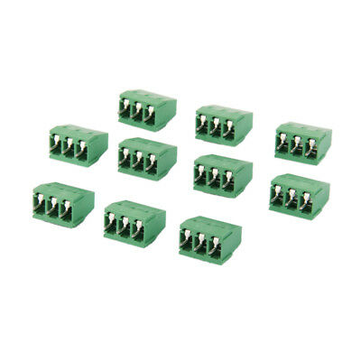 10pcs 3Pin Plug-in Terminal Block DG128 Screw KF128-3P Pitch 5.08MM 300V/10A