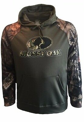 MOSSY OAK Hunting Camping Hiking Fishing Casual Performance Fleece Hoodie